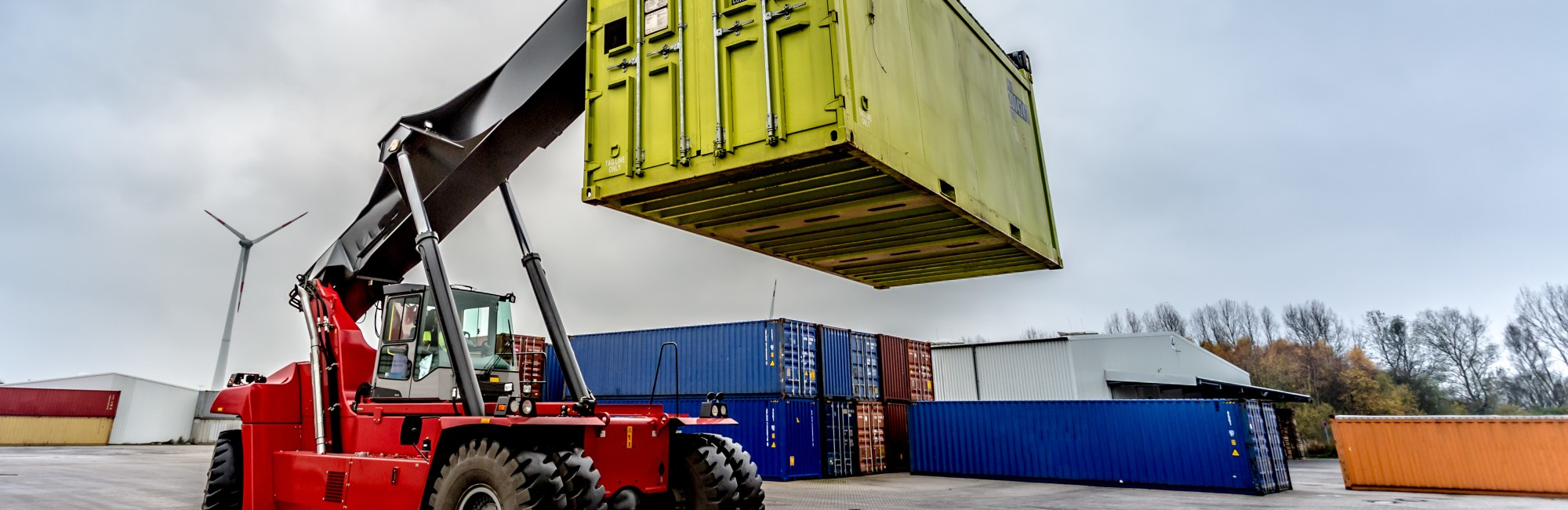 Container Handler lifting shipping container